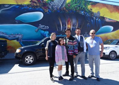 AdamBeach&Family, Jay Julius, Freddie Lane in Miami ©SacredSea.org