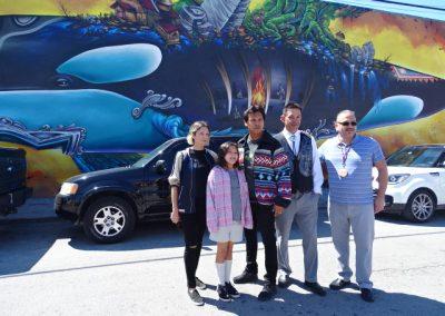 AdamBeach&Family, Jay Julius, Freddie Lane in Miami ©SacredSea.org