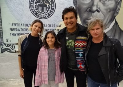 Adam Beach and family; Dennie Gordon ©SacredSea.org