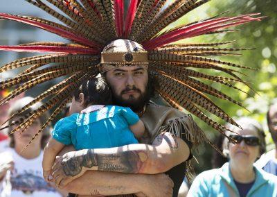 Aztec dancer, Portland, ©Nancy Bleck, Slanay Sp'ak'wus