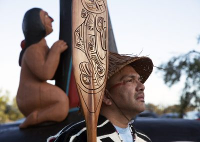 Fredrick Lane of Lummi in LA, ©Nancy Bleck, Slanay Sp'ak'wus